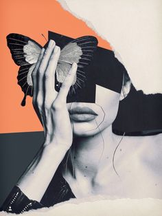 collage art / butterfly by Collage Kunst, Art Du Collage, Collage Design, Collage Artists, Collages, Aesthetic Pastel Wallpaper, Aesthetic Wallpapers, Character Illustration, Illustration Art