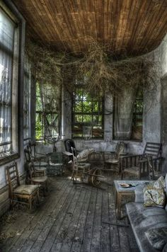 LOOKS LIKE A BACK PORCH - NOW JUST AN ABANDONED BACK PORCH........ccp