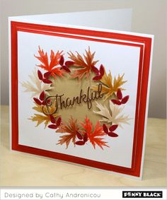 Celebrating fall on the Penny Black blog-- downloadable details and instructions within post