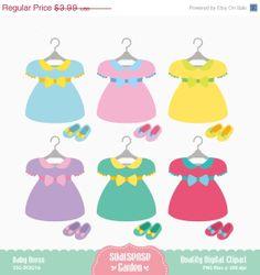 Baby Dress Digital Clipart