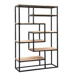 Diy Cardboard Furniture, Iron Furniture, Steel Furniture, Home Furniture, Furniture Design, Living Room Partition, Etagere Design, Geometric Shelves, Wrought Iron Chairs