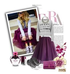 A fashion look from May 2015 featuring crewneck sweatshirt, tutu skirts and converse sneakers. Browse and shop related looks. Moschino, Rapunzel, Easy Halloween Costumes For Women, Fall Outfits, Fashion Outfits, Outfits With Converse, Plus Size Skirts, Tutu, Fashion Looks