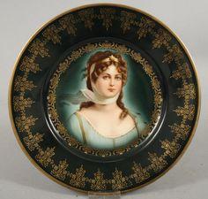 Royal Vienna Porcelain (Austria) — Cabinet Plate Pseudo (800x766)