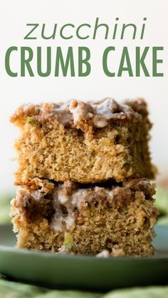 Zucchini crumb cake is moist cinnamon-spiced and hidden with summers favorite green vegetable inside. Topped with a buttery brown sugar crumb topping and sweet vanilla icing veggies for breakfast never tasted so good! Recipe on sallysbakingaddiction.com Zucchini crumb cake is moist cinnamon-spiced and hidden with summers favorite green vegetable inside. Topped with a buttery brown sugar crumb topping and sweet vanilla icing veggies for breakfast never tasted so good! Recipe on sallysbakingaddic