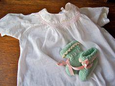 Vintage Baby Dress Pink Smock Yoke 1950s by cynthiasattic on Etsy, $24.00