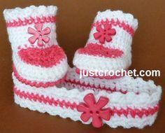 Crochet Headband and Booties Pattern, http://crochetjewel.com/?p=15393