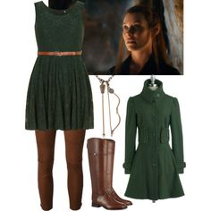Tauriel by xviolinxrockstarx on Polyvore featuring Dorothy Perkins, Utzon and Tory Burch