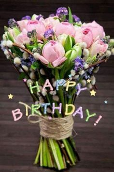 68 trendy flowers bouquet birthday wishes Birthday Wishes Flowers, Happy Birthday Wishes Cards, Happy Birthday Flower, Happy Birthday Pictures, Birthday Wishes Quotes, Happy Birthdays, Free Birthday, Happy Pictures, Cool Pictures