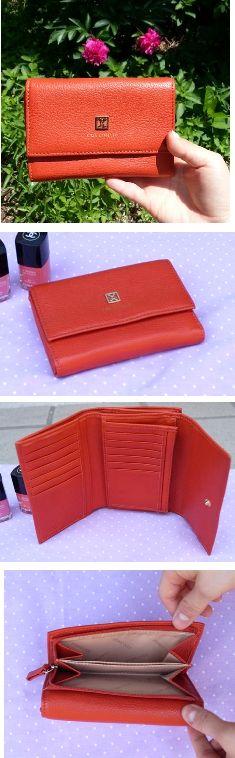 COCCINELLE CONCEPT Orange Wallet / 코치넬리 컨셉 오렌지 컬러 중지갑
