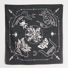 Ritual Shoppe is an online & brick & mortar store for the rebels & mystics, offering the finest handmade jewelry, crystals, metaphysical goods, & apothecary. Bandana Design, Altar Cloth, Mc Escher, How To Dye Fabric, Dyeing Fabric, Bandana Print, Neckerchiefs, Linocut Prints, Apparel Design