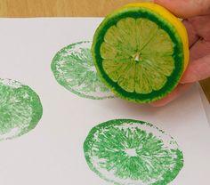 Camino de mesa estampado con limones