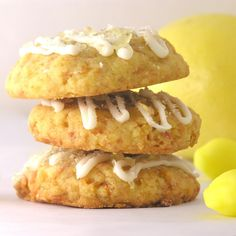 Coconut Lemon Drop Cookies