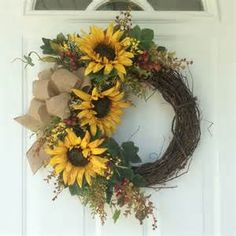 sunflower wreaths - Bing images