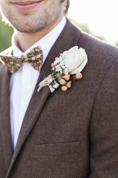 herringbone for groom | Photo by Rachel Solomon