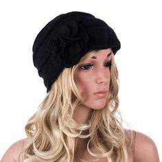d9f57ade777 Lawliet Wool Hat Women Winter Hats Solid Flower Warm Knitted Ladies Beanies  Bonnet Femme Bucket Cloche
