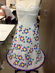 Twister dots on dress with hula hoop