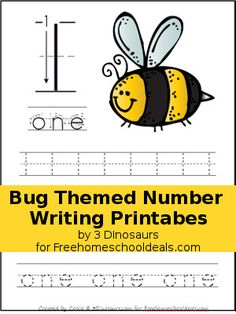 One of my favorite topics for the spring is learning about bugs! Bugs can be so much fun to learn about. I made our learning numbers fun with fun bug themed num