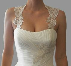 Transform your Wedding Gown into a one of a kind custom design.These stunning Detachable Lace Keyhole-Back Straps are hand-crafted Plain Wedding Dress, Diy Wedding Dress, Wedding Dresses With Straps, One Shoulder Wedding Dress, Wedding Bells, Wedding Wishes, Bridal Lace, Bridal Gowns, Cute White Dress