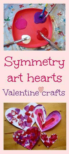 Symmetry art Valentine craft for kids - great art and maths lesson! | NurtureStore :: inspiration for kids