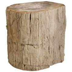 Bernhardt Interiors Petrified Wood Side Table 319-712 – Benjamin Rugs & Furniture