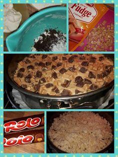 Lekker en leuk!: Rolo fudge kruimel cake