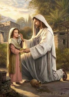 The Lord Jesus Christ. Our Heavenly Father sent His Son, Jesus Christ, to be our Savior and show us the way to true happiness by living. Images Du Christ, Pictures Of Jesus Christ, Arte Lds, Simon Dewey, Image Jesus, Crying Girl, Lds Art, My Jesus, Jesus Christ Lds