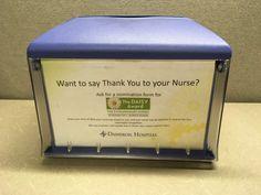 Napkin anyone?  Great idea for awareness, Dameron Hospital!