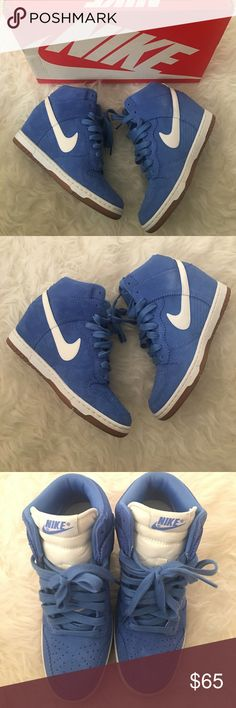 Nike wedge sneakers Women's Nike dunk sky hi sneaker wedges. Worn once perfect condition with box. Nike Shoes Sneakers