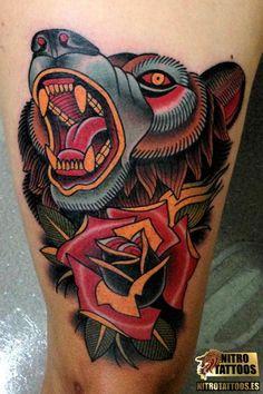 old school wolf tattoo - Google Search