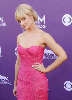 Actress Beth Behrs arrives at the 48th Annual Academy Of Country Music Awards at MGM Grand Garden Arena on April 7 2013 in Las Vegas Nevada