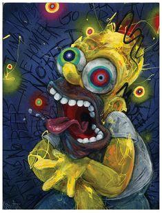 "Homer Kunstdruck - die Simpsons Kunst - Homer Simpson - Wandkunst - Cartoon-Kunst - lustige Kunst - ""Homer"" von schwarzen Tinte Kunst - The little thins - Event planning, Personal celebration, Hosting occasions Homer Simpson, Cartoon Kunst, Cartoon Art, Black Cartoon, Psychedelic Art, The Simpsons, Disney Drawings, Art Drawings, Drawing Disney"
