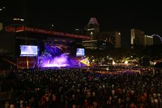 Panoramic view of the Crowd at the Padang Stage
