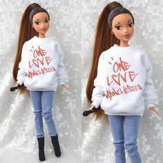 Custom Ariana Grande NTLTC music video doll I made 💧☔️ Ariana Grande Doll, Ariana Grande Tumblr, Ariana Grande Outfits, Ariana Grande Pictures, Bratz Doll Outfits, Ariana Merch, Gravity Falls, Custom Barbie, Barbies Pics