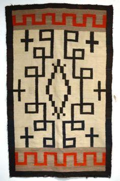 "Large Vintage Navajo rug 91""x 56.5"" : Lot 201"