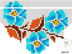 Pattern for seed beaded Rose f Bead Loom Patterns, Peyote Patterns, Beading Patterns, Cross Stitch Patterns, Seed Bead Bracelets Tutorials, Bead Loom Bracelets, Beading Tutorials, Seed Bead Flowers, Beaded Flowers