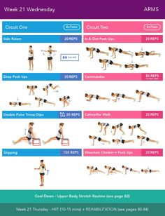 Week 21 Wednesday  Bikini Body Guide 2.0 by Kayla Itsines, weeks 13-24 (complete)