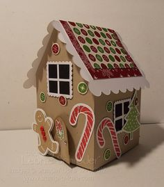 Stampin Up ginger bread house   Gingerbread House – Side