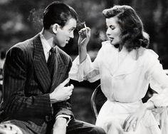 James Stewart and Katharine Hepburn in The Philadelphia Story (1940).