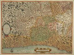 This day in 1550 - Jews are expelled from Genoa Italy. [16th C. Classic map of Piemonte & Liguria].
