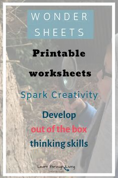 Are your kids tired of the same style of worksheets?  These worksheets have been completely flipped from the traditional style of sheets. Each has a little Maths, English and a themed activity for your child to be creative with.  #lessonplans #homeschoollessons #thinkcreatively
