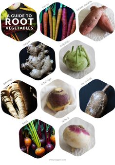 Fabulous guide! A Guide to Root Vegetables, including nutritional profile, storage & cooking techniques & recipe ideas.