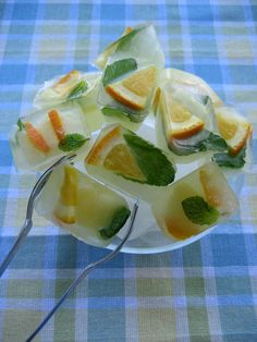 Ice cubes...great idea to keep in the freezer with lemons instead of having to cut a new piece each time