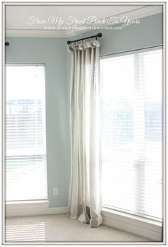From My Front Porch To Yours: How To Create a Curtain Poof