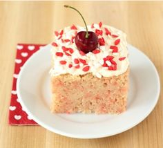 This delicious recipe will give you a cherry chip cake ready to serve in under two hours.