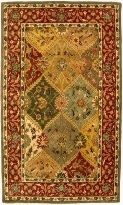 Heritage Collection Multi Colored Traditional Rug With Red Green and Gold Floral Design $129.10