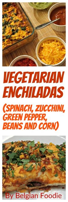 Vegetarian Enchiladas - Easy, Tasty and Healthy! Try this recipe now and share with friends!