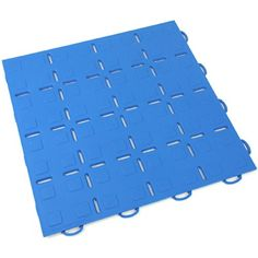 TechFloor Solid FlowThru with Raised Squares Modular Garage Tiles (Blue, 10 Pack) - Premium, low cost, sound dampening, anti-slip, protective flooring ideal for wet/dry garages, trade shows, commercial flooring, man caves, and show rooms - http://workoutprograms.net/techfloor-solid-flowthru-with-raised-squares-modular-garage-tiles-blue-10-pack-premium-low-cost-sound-dampening-anti-slip-protective-flooring-ideal-for-wetdry-garages-trade-shows-commercia/