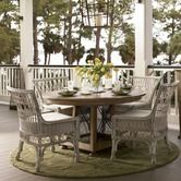 Found it at Wayfair - Down Home Five Piece Breakfast Table Set with Wicker Chairs in Distressed Oatmeal Finish