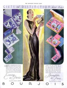 1933 Bourjois fragrances ad. The Saturday Evening Post.