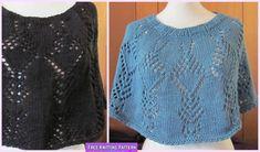 Knit Crystal Trees Poncho Free Knitting Pattern